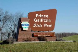 Prince Gallitzin State Park sign